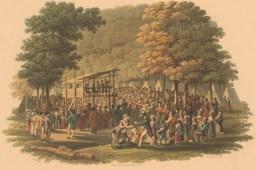 Неизвестный художник. Методистский camp meeting (1 марта 1819 года) (Library of Congress)
