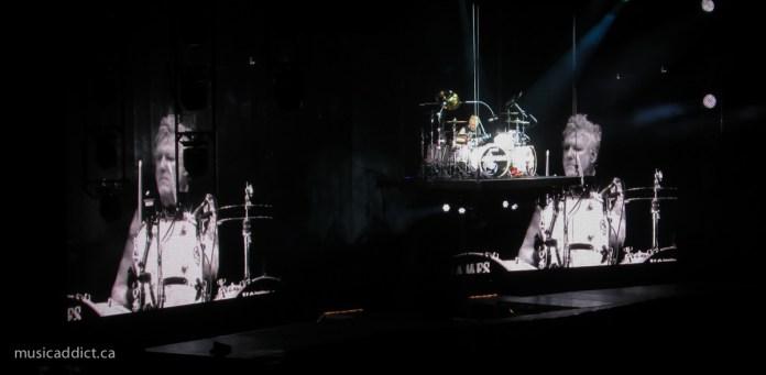 Scorpions' James Kottak during his drum solo - September 19, 2015