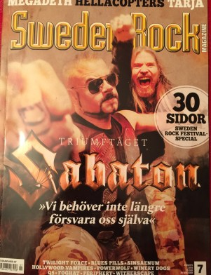 Sweden Rock Magazine cover