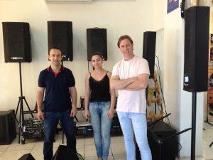 Fábio, Luana e Toni na Studio A