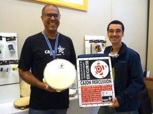 Rafael Gomes e Rodrigo Araújo da Cajon Percussion