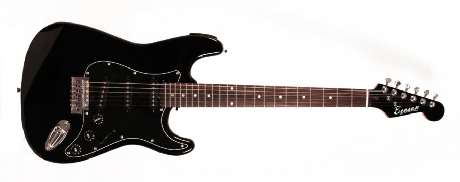 Stratocaster Benson All Black Tuner