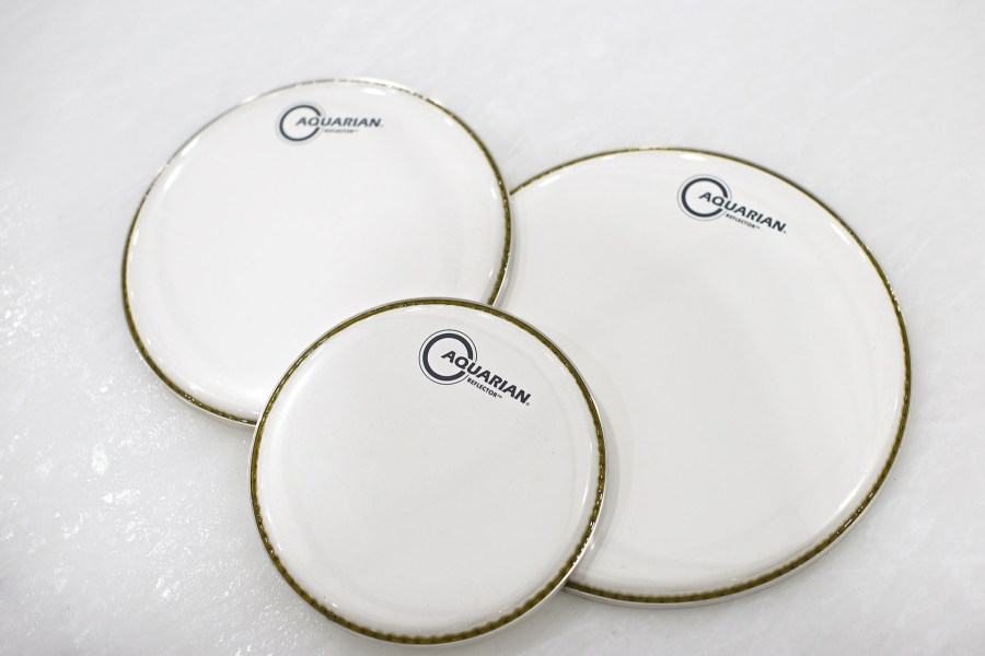 Aquarian Drumheads peles Reflector Ice White