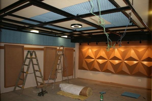 Construção do estúdio
