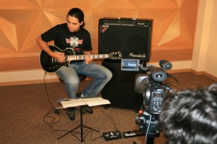 Gravação com Adriano Ferreira