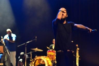 Otto no palco do Teatro Sesc Vila Mariana. 16.2.2014 (Foto: Alexandre Eça)