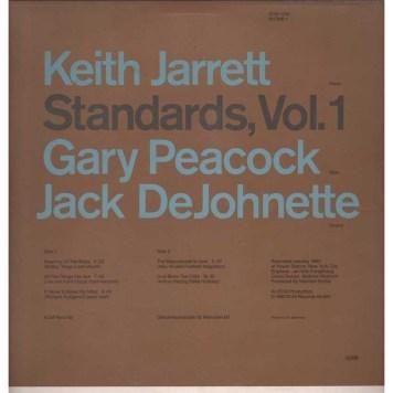Keith Jarrett, Standards vol 1 back