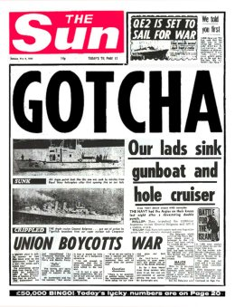 Sun Gotcha headline May 1982