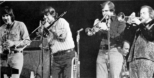 The Blood, Sweat and Tears horn section: Fred Lipsius, Dave Bargeron, Chuck Winfield and Lew Soloff