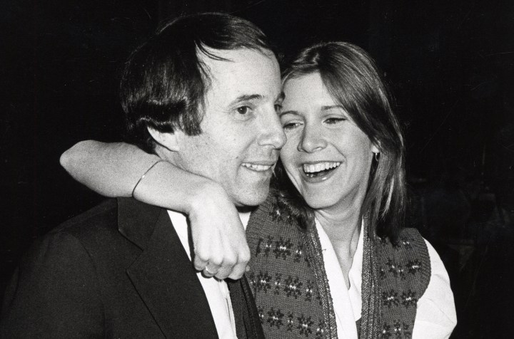 carrie-fisher-and-paul-simon-1970s