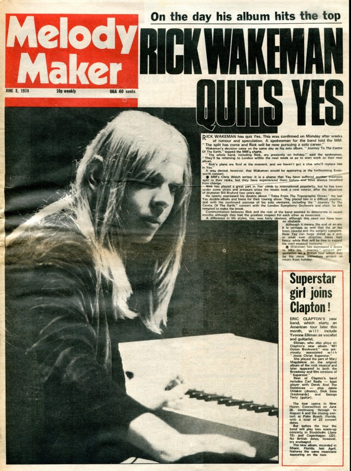 Rick Wakeman Quits Yes