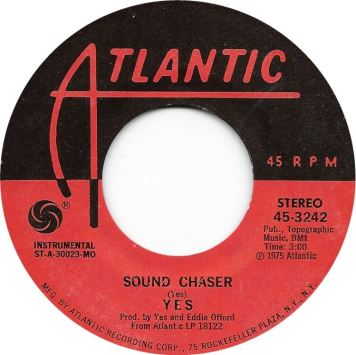 Yes Sound Chaser Single