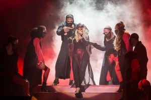 Christina em show que quebrou recorde de público lá no Marrocos. (2016)