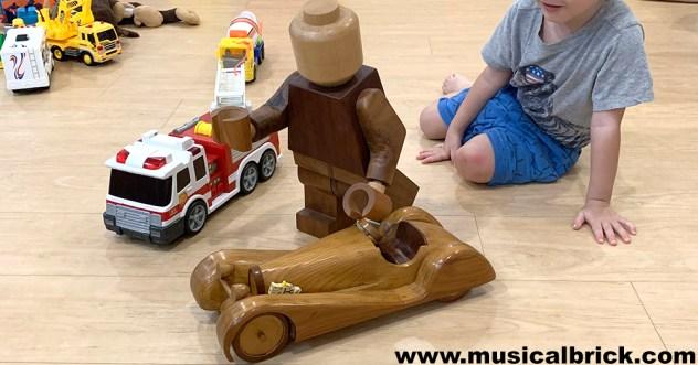 Giant Wooden LEGO Minifigure