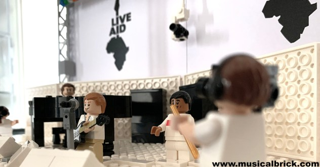 Phil Collins, Sting and Branford Marsalis Lego Live Aid