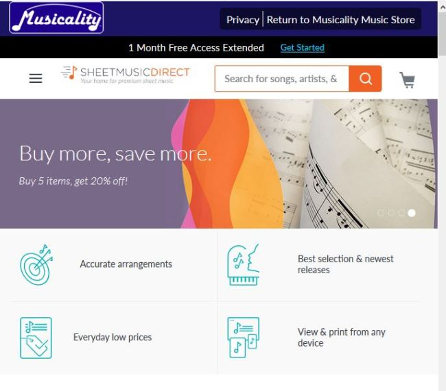 Print on demand at Musicality