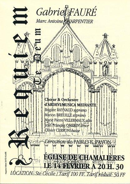 _1 - 1997-02-14 Concert Chamalières Programme