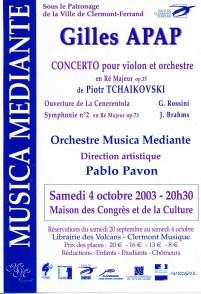 _2 - 2003-10-04 Concert Clermont-Ferrand Flyer