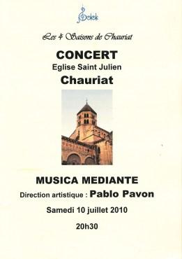 _2010-07-10 Concert Chauriat Programme p1