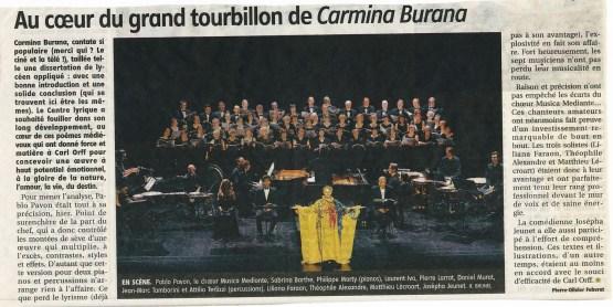 _2015-05-12 Concert Clermont-Ferrand Article La Montagne