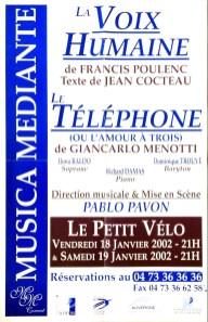 _7 - 2002-01-18+19 Concerts Clermont-Ferrand Affiche