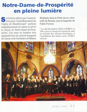 _9 - 2004-03-29  Concert Eglise Montferrand Article Le Mois