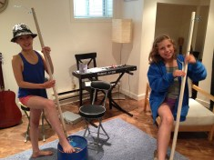 Practicing bucket basses