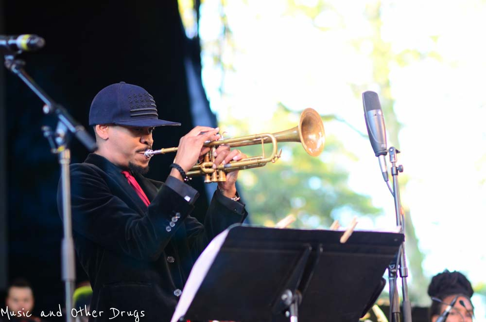 Igmar Thomas performing at Central Park's Rumsey Playfield