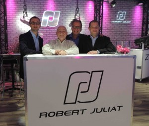 Francois Juliat Director General de Robert Juliat, Bob Gordon Director de A.C.T Lighting, Claus Spreyer Director de Ventas de Robert Juliat y Ben Saltzman Presidente de A.C.T Lighting