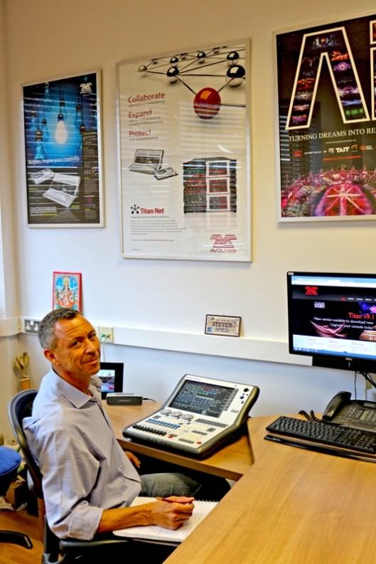 Steve Warren in his office