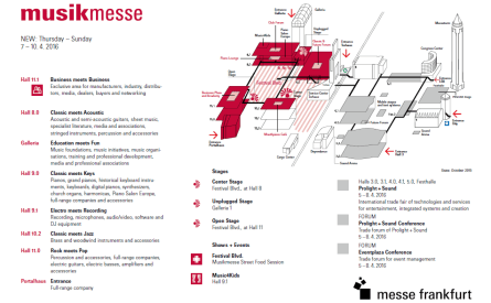 Messe Frankfurt map