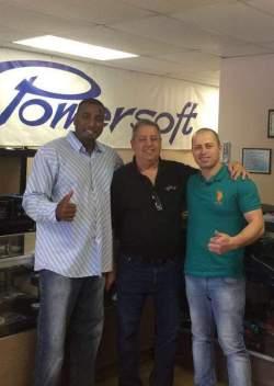 Rohan Slacks, Gilberto Morejón y Fabiano Rezende.