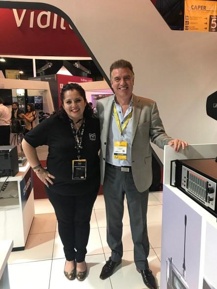Martin Audio's Berenice Gutierrez and ARS Technologies' Ricardo Pousa