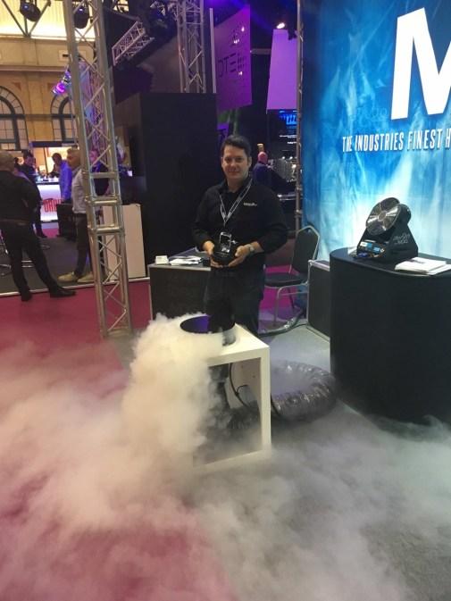 Matt Wiseman of MDG UK with ABTT Engineering Product of the Year Round Floor Pocket sml