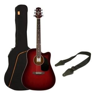Pack guitarra acustica electrificada Ashton SPD25CEQ TSB