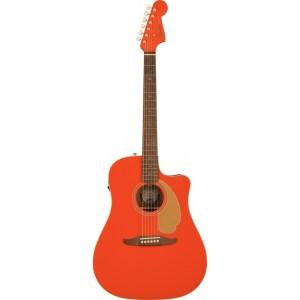 Guitarra acústica fender redondo fiesta red ltd