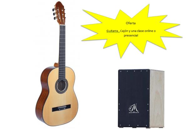 oferta guitarra y cajon