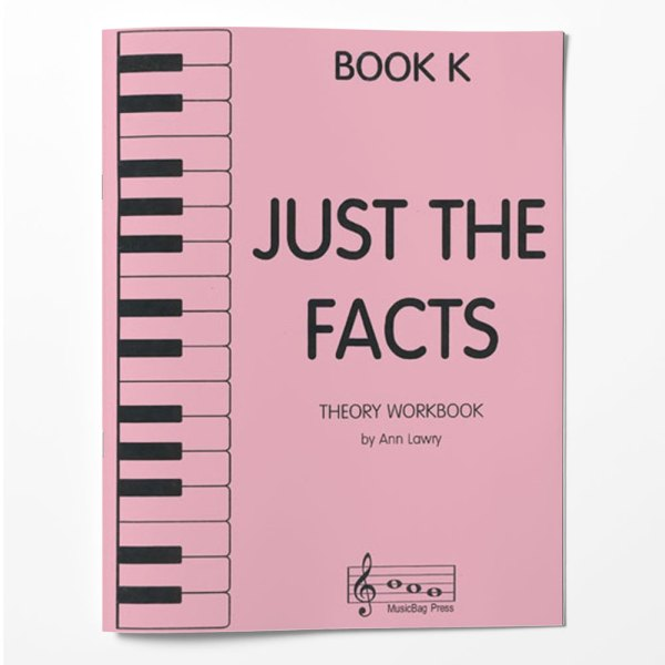 Piano Theory Worksheets Piano Theory Workbook Just The Facts Book K