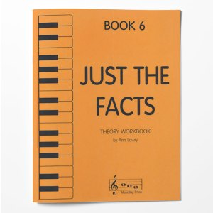 Piano Theory Worksheets Piano Theory Workbook Just The Facts Book 6