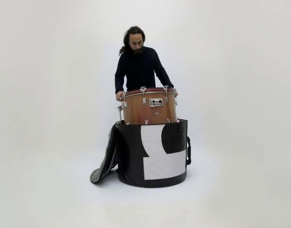 Floor tom bag from handcrafted drum set bag by music bags.crea-re.com