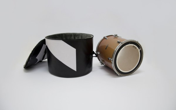 Floor tom bag from handcrafted drum set bag by music bags.crea-re.com c