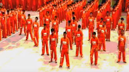 philippine inmates do the thriller dance