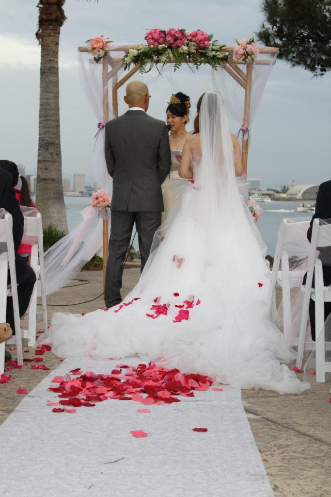 A Very Valentines Day Wedding Bali Hai Restaurant Music By Desi