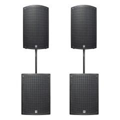 HK Audio Sonar 115 Xi x2 + Sonar 115 Sub D x2 + sztyce i okablowanie