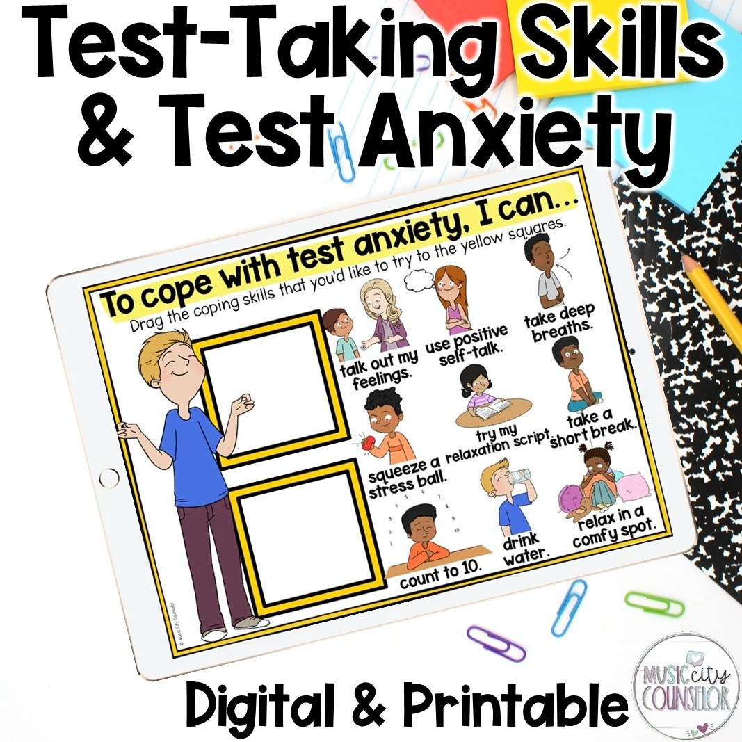 test anxiety, test taking skills, standardized test, counseling