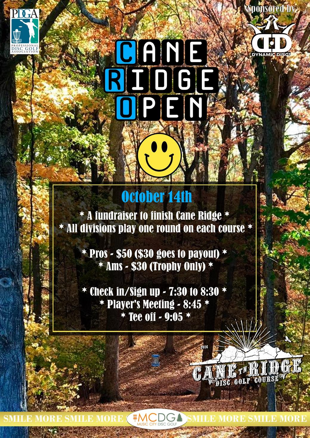 Cane Ridge Open Flyer 2018