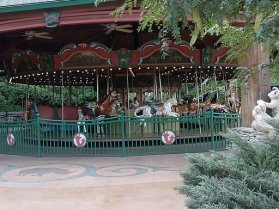 We all enjoyed a ride on this beautiful carousel. You can pick your favorite animal from the zoo to ride.