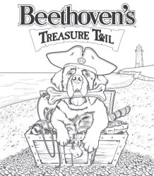 beethoven's treasure tail coloring page printable