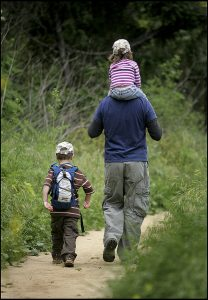 how to get healthy family walks fitness