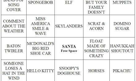 Thanksgiving Parade Bingo 2016